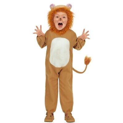 LÖWE Kinder Kostüm Tierkostüm Jungen Mädchen Größe 98 104 110 Katze Tiger (Tiger Kostüm Jungen)