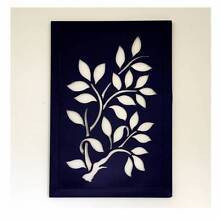 Large Square Abstract Framed Metal Wall Sculpture Leaves Tree Campbelltown Campbelltown Area Preview