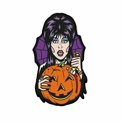 Elvira Carver Halloween Horror Movie Pumpkin Cartoon Enamel Clutch Retro Tie Pin