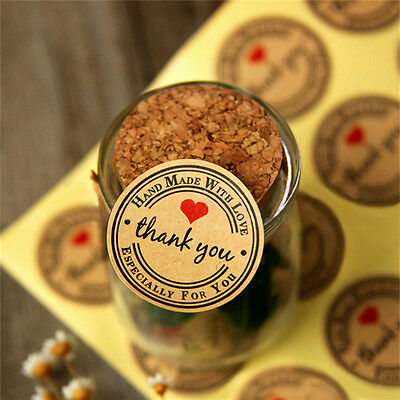 12 60 120Pcs Thank You Hand Made With Love Especially For You Stickers Label Fh