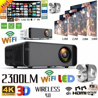 4K 15000 Lumens HD 1080P 3D LED Mini Wifi Video Home Theater Projector Cinema