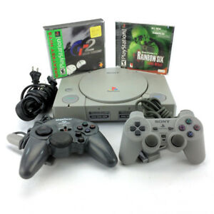 Sony Playstation 1 Console Bundle With Games Controllers Orig