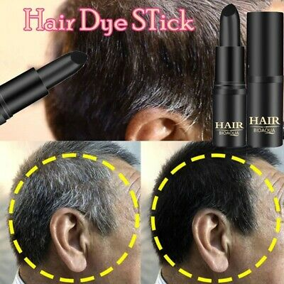 Black Brown Temporary Hair Dye Mild Fast One-off Stick Pen White Hair Styling](White Hair Dye Temporary)