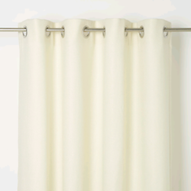 New Fully lined 90 x 90 ivory Eyelet curtains