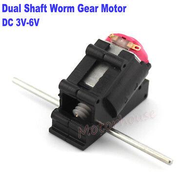 Dc 3v-6v 5v Micro Worm Gear Motor Dual Shaft Axis Diy Child Toy Car Model Boat