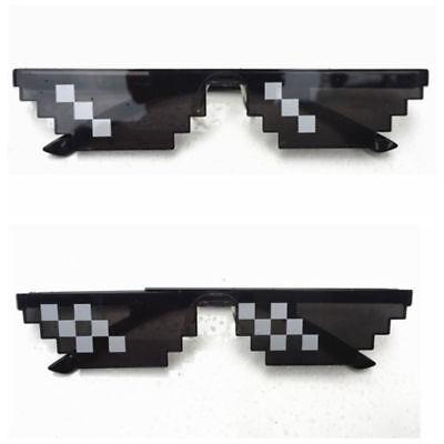 HOT Thug Life Glasses 8 Bit Pixel Deal With IT Sunglasses Unisex - Pixelated Glasses