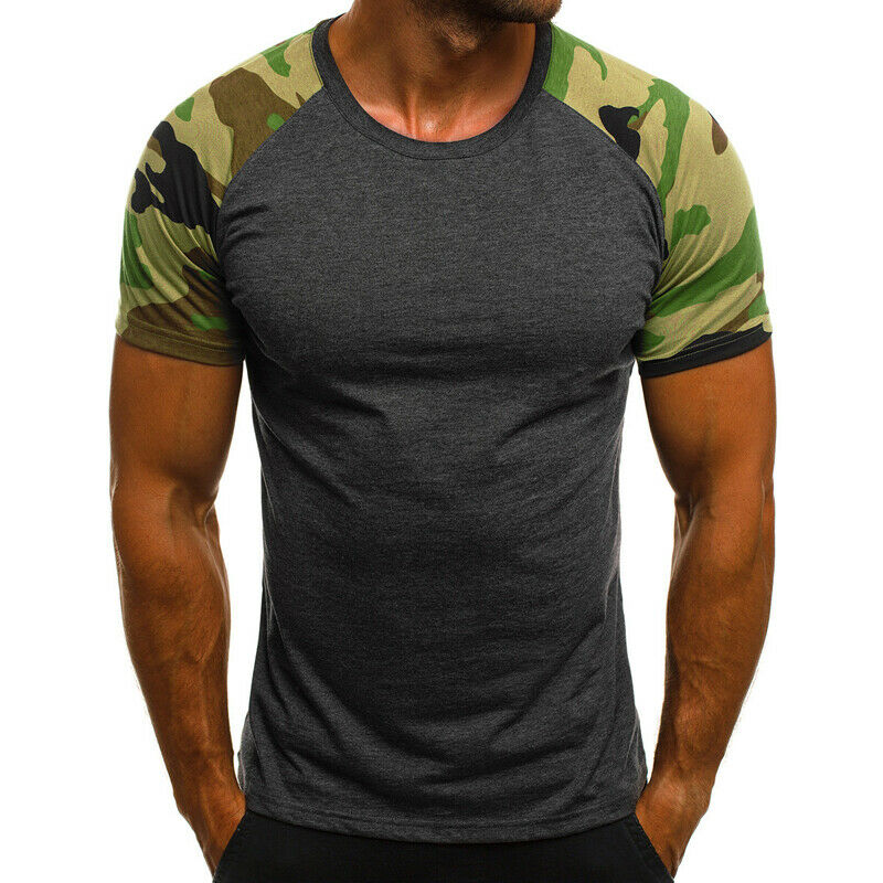 Mens Tight Muscle T-Shirt Gym Sport Tops Short Sleeve Tee Shirts Summer Blouse Clothing, Shoes & Accessories