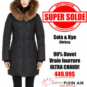 SALE SOYA & KYO CHRISSY AT 449.99$! 90% DUVET REAL FUR