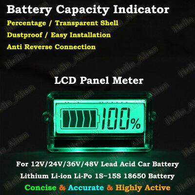 Battery Meter (LCD Lead Acid Lithium Li-ion 18650 Battery BMS Capacity Meter Indicator Detector)