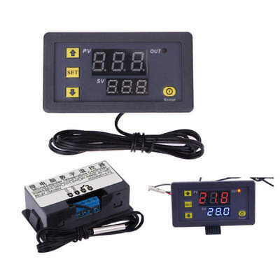 Ac 110v-220v Black W3230 Digital Temperature Controller Thermostat Fahrenheit