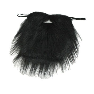 Black Facial Hair Beard Fake Moustache Halloween Costume Fancy Dress Part PBS](Mustache Part)
