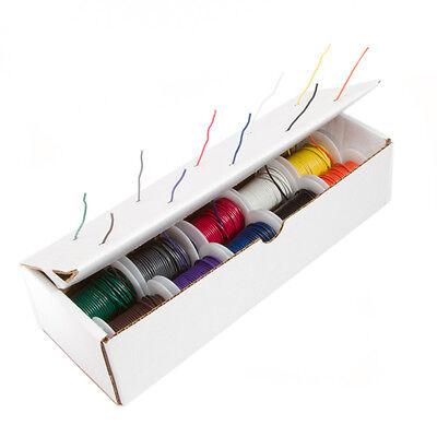 20 Awg Gauge Stranded Hook Up Wire Kit 25 Ft Ea 0.0320 10 Color Ul1015 600 Volt