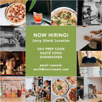 DAY PREP COOK + SAUTE COOK + DISHWASHERS // LARRY UTECK LOCATION