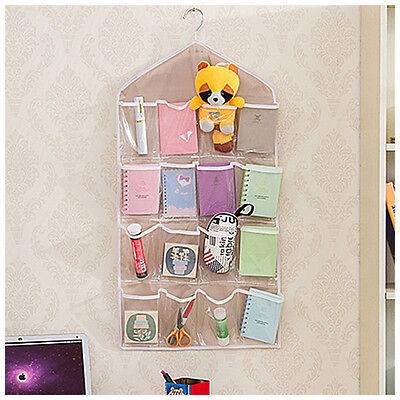 Hängenden Schuh Regal (1pcs Taschen  hängenden Beutel Schuhregal Hanger Lagerung Tür Wand Pink 73*42cm)