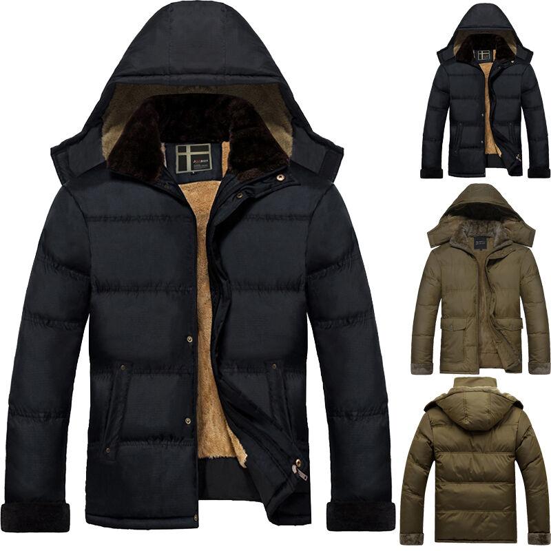 hiver doudoune homme veste manteau capuche fourrure d contract parka manteau eur 38 50. Black Bedroom Furniture Sets. Home Design Ideas