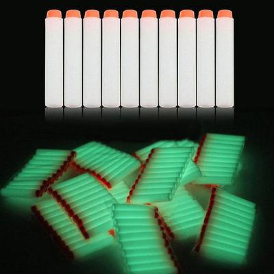 Glow 200pcs 7.2cm Refill Bullet Darts for Nerf N-strike Elite Series toy Gun