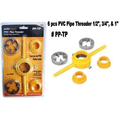 Altocraft 6pcs Pvc Pipe Threader Maker Tool Set 12341 Npt Tube