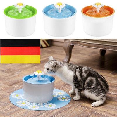 Neu Haustier Blumentrinkbrunnen Automatisch Trinkbrunnen für Katzen Hunde 1,6L ()