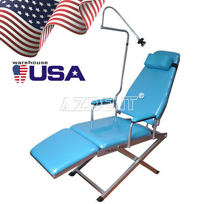 Us Stock Portable Dental Simple Folding Chair Rechargeable Led Light