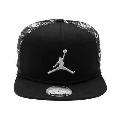 New Nike Air Jordan Cloud Camo Snapback Trucker Hat Cap 789505 013 Adult Retro