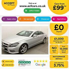 Mercedes-Benz CLS350 FROM £99 PER WEEK!