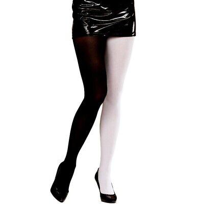 Strumpfhose schwarz weiß zweifarbig 40 DEN Karneval Männerballett  Erwachsene