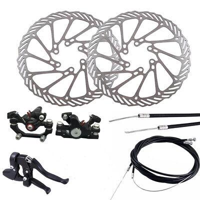 Bicicleta de Carretera Metal Mecánico Disco Freno Cable Calibre 160mm Rotor