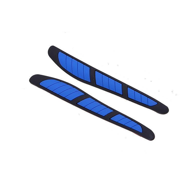 2 x Black Rubber Door Mirror Guard Protectors BLUE Insert (DG3) MC17/10