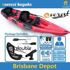 ON SALE Everest Double Sit-On Fishing Kayak Package North Lakes Pine Rivers Area Preview