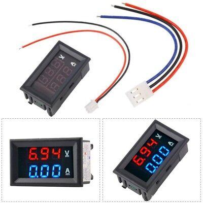 1pcs Blue Red Led Dual Digital Volt Panel Amp Meter Gauge Voltmeter Ammeter