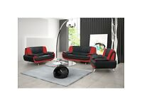 Italian Leather 3+2 Seater Sofa Suite - Brand New