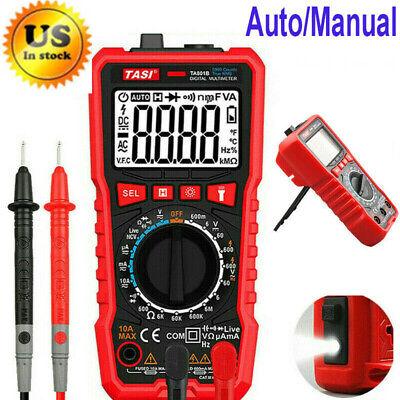 Digital Voltmeter Ammeter Ohmmeter Multimeter Volt Ac Dc Automatic Tester Meter