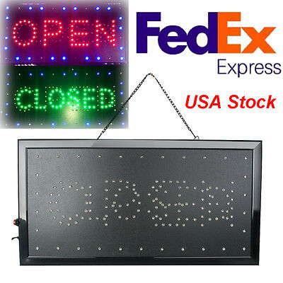 Bright Classic Open/Closed LED Light business Store Bar Coffee Cafe Sign - Open Closed Neon Sign