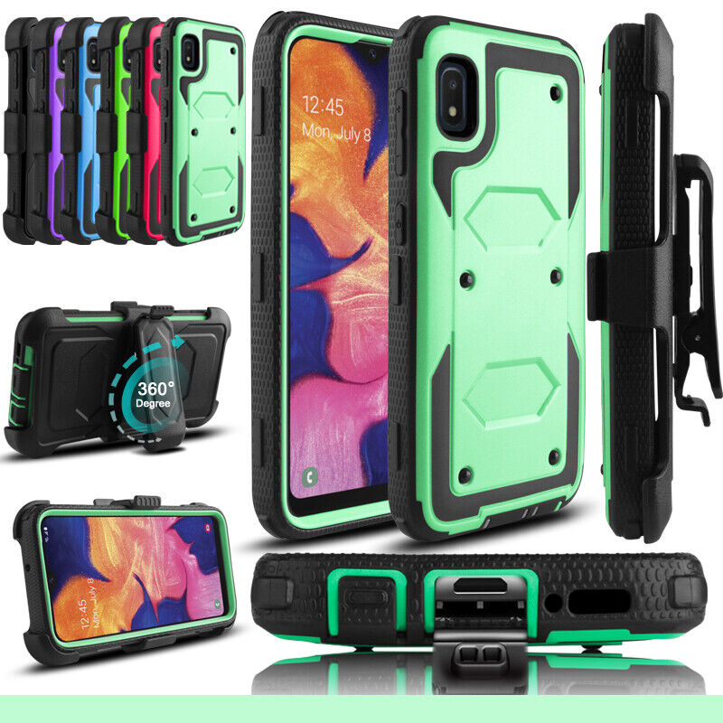 For Samsung Galaxy A10e Case Belt Clip Hybrid Holster Stand