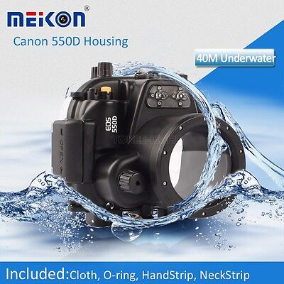 Underwater Waterproof Housing Cover Case Bag for Canon 550D T2i 18-55mm lens EOS