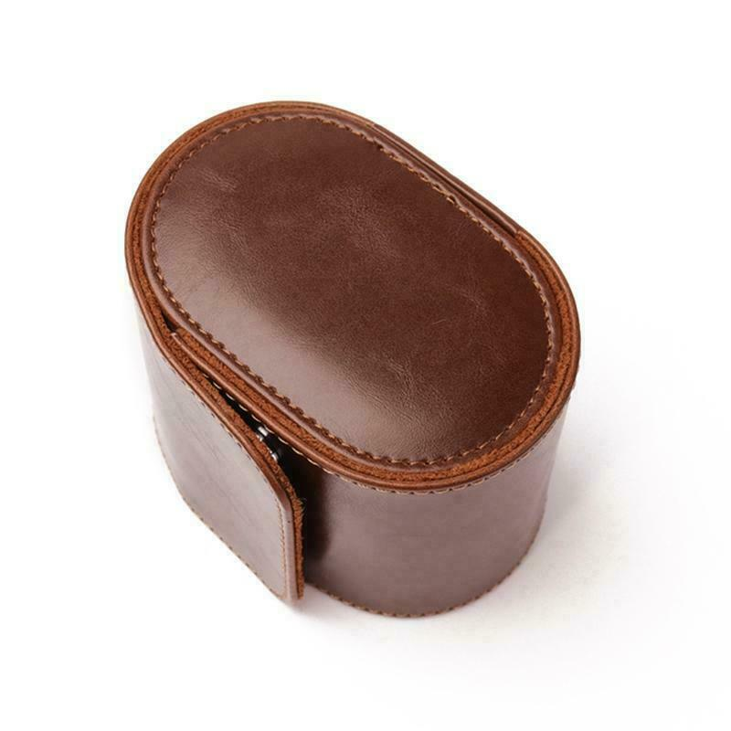 Real Leather Watch Roll Single Watch Travel Case for Men or Women