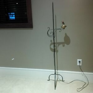 Antique Forged Wrought Iron FLOOR LAMP - from Pennsylvania