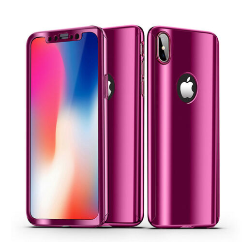 Luxury Ultra Slim 360 Full Body Mirror Hard Case Cover For iPhone XS Max XR 8 7