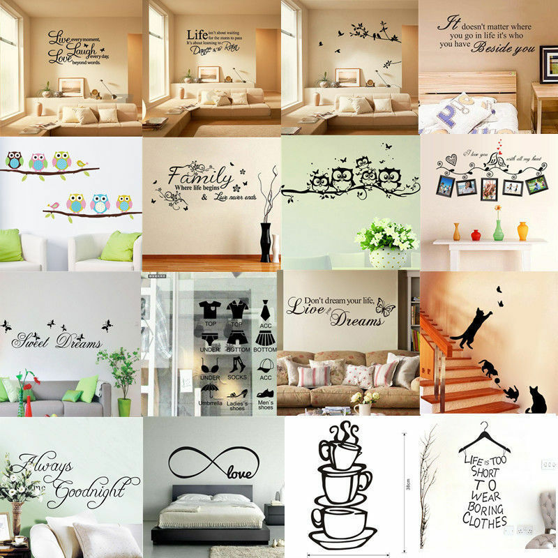 Home Decoration - NEW Quotes Wall Stickers Family Kids DIY Removable Vinyl Decal Mural Home Decor