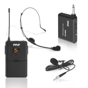 Pyle UHF 32-Channels Wireless Microphone - System Set with Heads