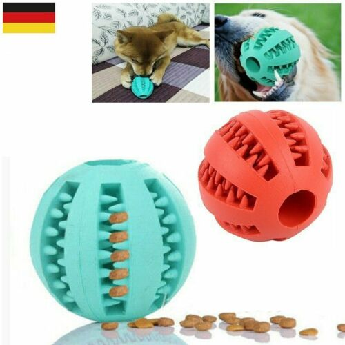 2x Dental Vollgummi Hunde Spielzeug Bälle Ball Kauspielzeug Snackball Zahnpflege