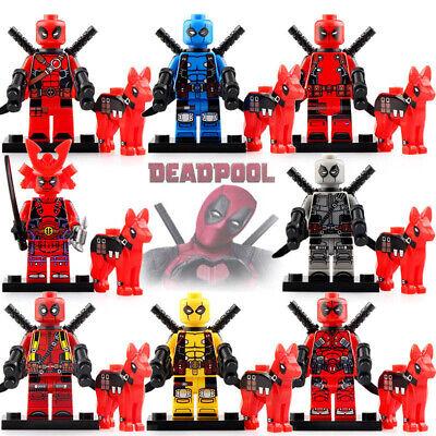 Deadpool With Dog - Marvel Super Heroes Lego Moc Minifigure Toys Gift Kids
