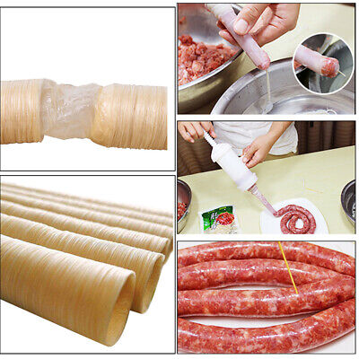 14m Natural Sheep Sausage Casing Skins 26mm Long Small Breakfast Sausages Tools
