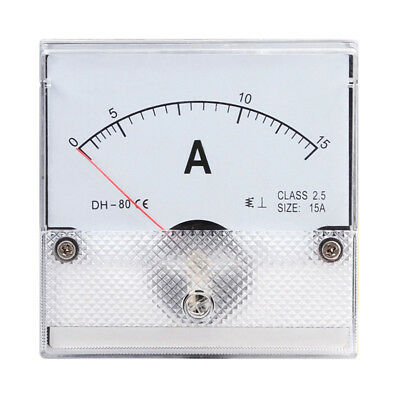 1pc Square Analog Panel Amp Current Meter Ac 0-15a Ammeter Gauge Dh-80 8080