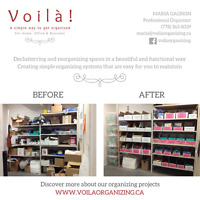 Spring Cleanup! Voilà! offers Organizing & Decluttering services