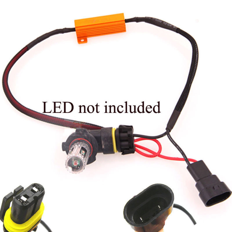 2x 3W-50W Headlight Kit Canbus HID LED Decoder Load Resistor Warning Canceller