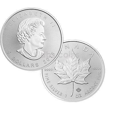 2015 $5 Silver Canadian Maple Leaf 1 oz Brilliant Uncirculated