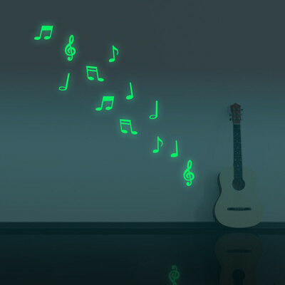 Music Note Luminous Decal Home Room Decor Art Vinyl Wall Sticker DIY Removable - Music Note Decorations