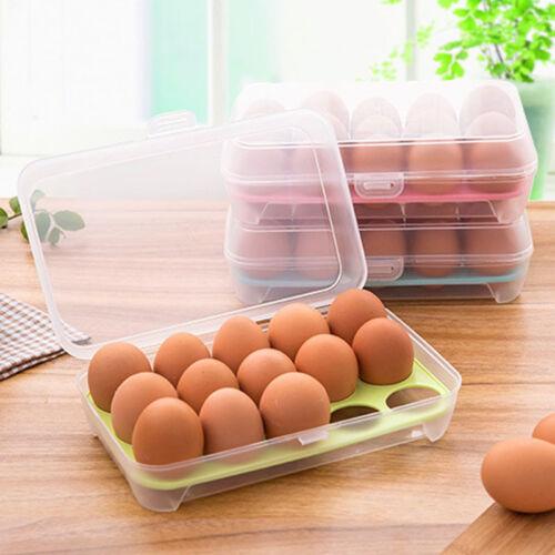 15 Egg Holder Refrigerator Container Kitchen Storage Foldabl