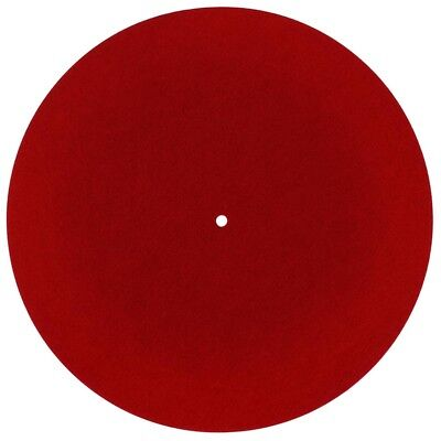 Dynavox Plattentellerauflage PM2 Filz Rot 3 mm Plattenspieler Matte Slipmat